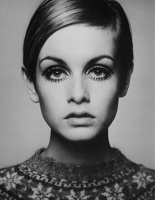 Twiggy by Barry Lategan in 1966 - the picture which made her career