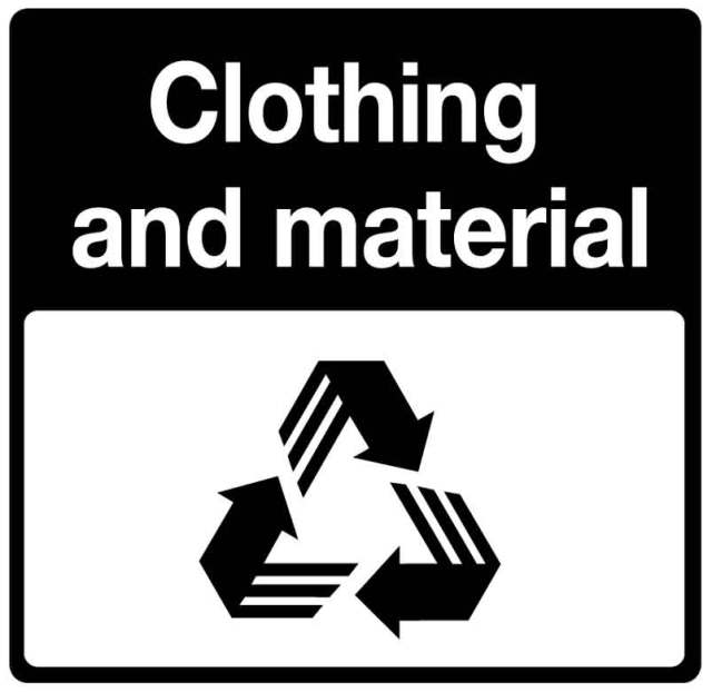 CLOTHING & MATERIAL recycle