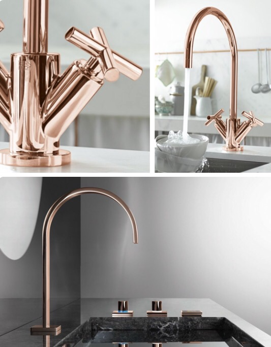 ROSE GOLD ADRIANA SASSOON - Rose gold kitchen faucet